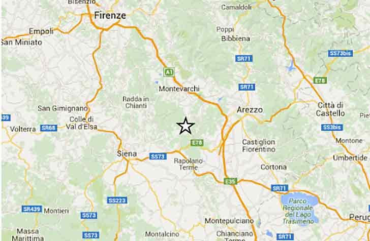 Terremoto di magnitudo 2.7 in provincia di Siena