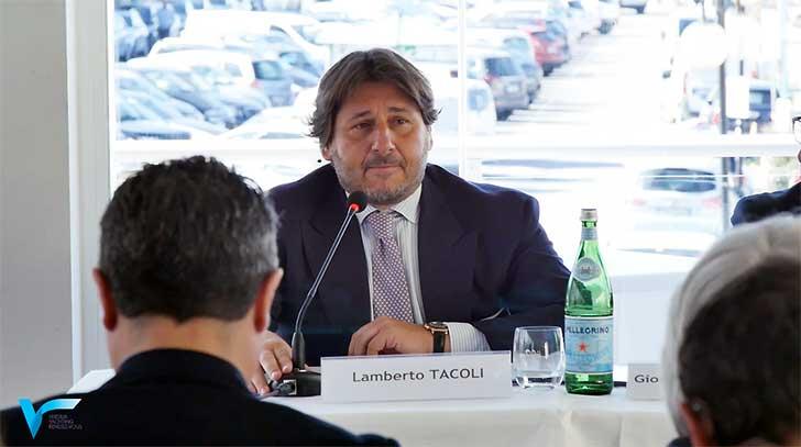 Lamberto Tacoli, presidente di Nautica Italiana alla presentazione di Versilia Yachting Rendez-vous